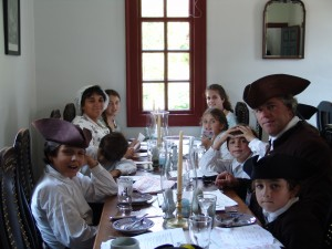 The Riley Family at the Shields Tavern in Williamsburg, Summer 2004