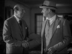 Basil Hoffman with Jean Dujardin in The Artist